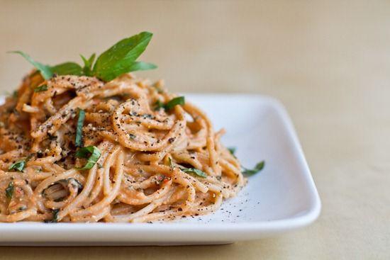 Easy Tomato  Basil Cream Pasta