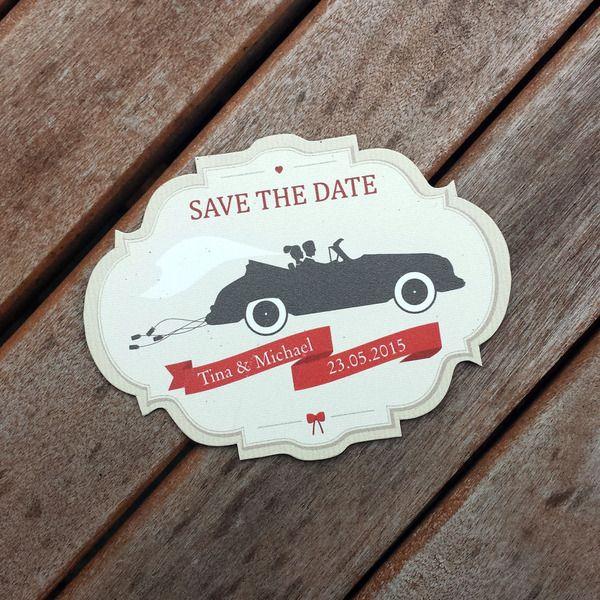 Save the date MAGNET | Gemeinsam ins Glück von zartbesaitet auf DaWanda.com