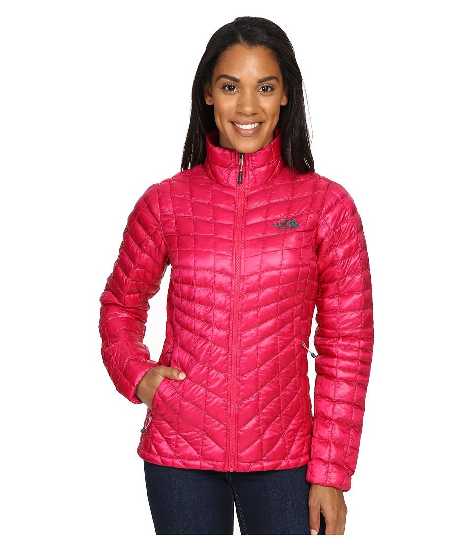 The North Face The North Face Thermoballtm Full Zip Jacket Cerise Pink Darkest Spruce Women S Coa Zip Jacket Women Pink North Face Jacket Jackets For Women [ 1120 x 960 Pixel ]