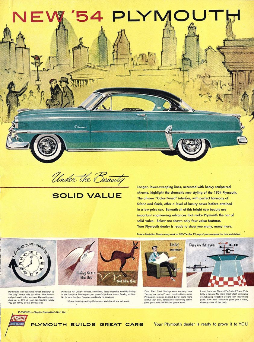 1954 Plymouth | Plymouth ..car brochures | Pinterest | Plymouth ...