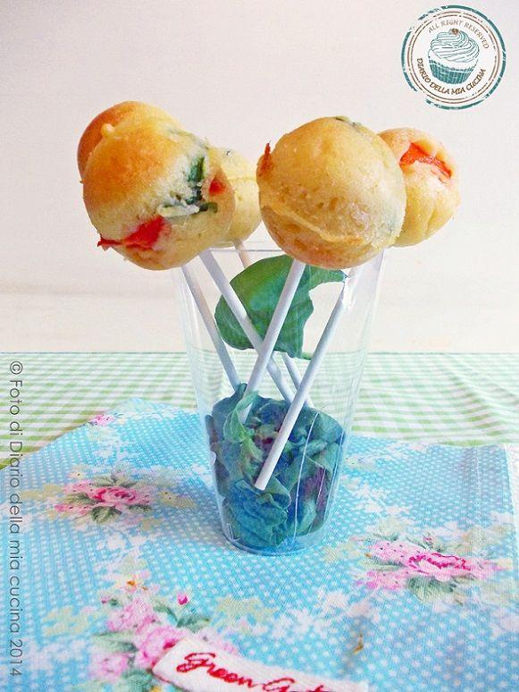 ©Diario della Mia Cucina - Cake pops peperoni basilico e pecorino romano with our Glass Atena #Poloplast