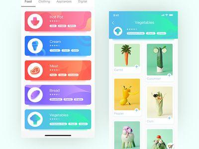 Shop Type App Design practice (With images) App design