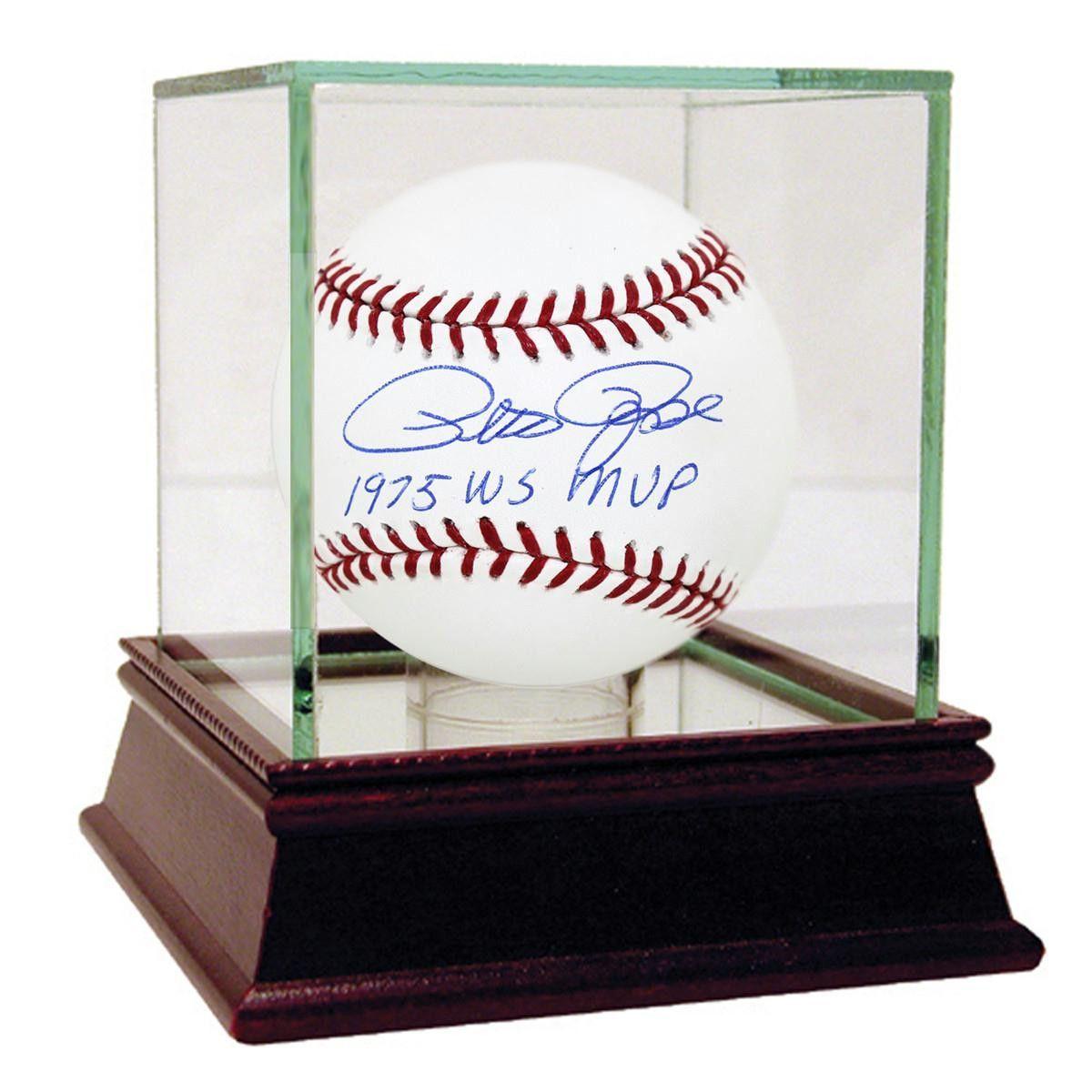 Pete Rose Signed MLB Baseball w 1975 WS MVP insc