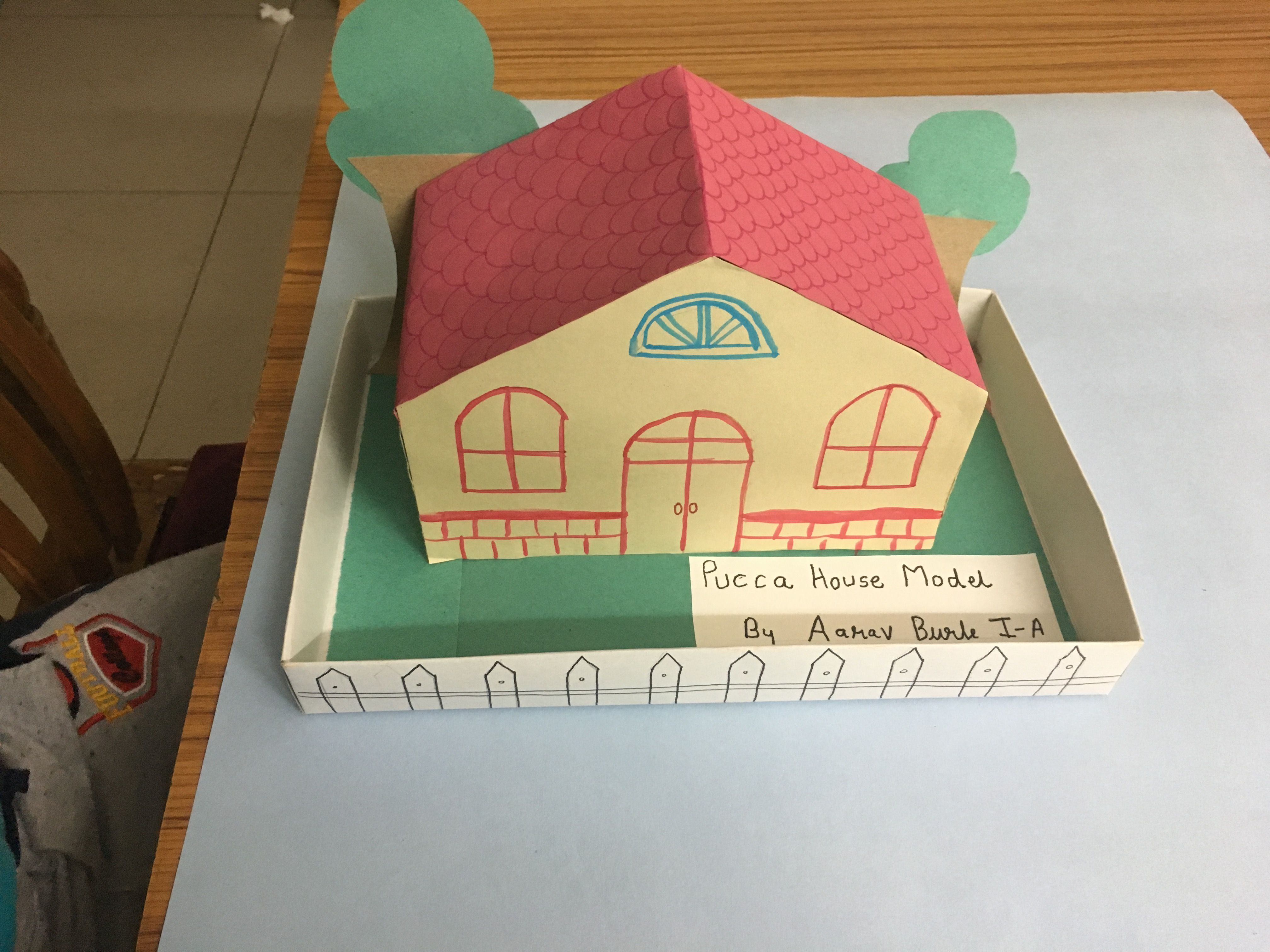 Pucca House Model Project Grade 1 School Project School