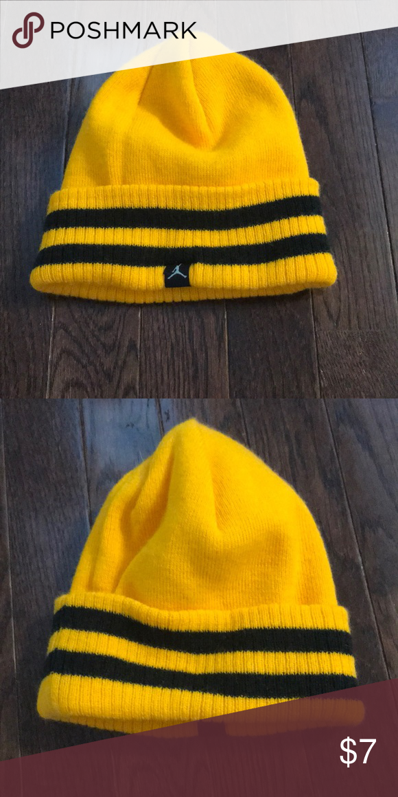 1470e65d60c Youth Nike Jordan Beanie Youth Size. Excellent like new condition. Yellow  and black. Nike Accessories Hats