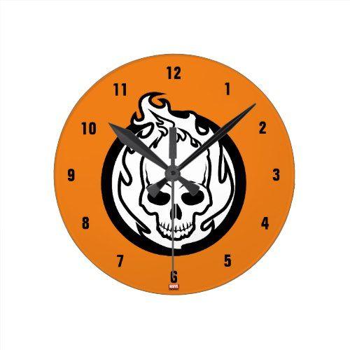 Ghost Rider Icon Round Clock Clocks Pinterest Clocks Icons