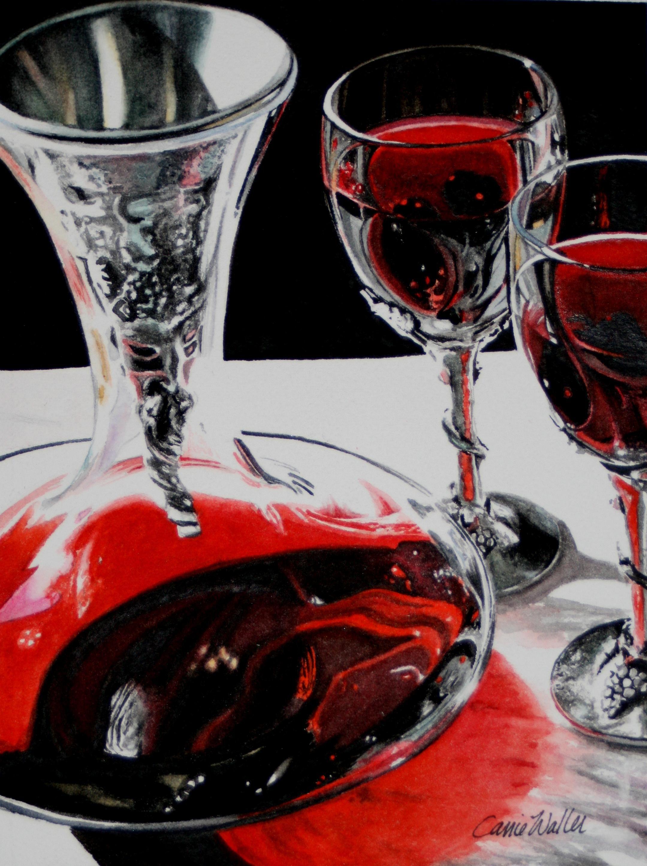 Bacchus The Wine God Watercolor On Paper By Carrie Waller Www Carriewallerfineart Com Peinture Acrylique Peinture Peintre