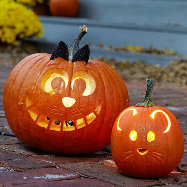 Lustige Kürbisse für Halloween schnitzen Halloween