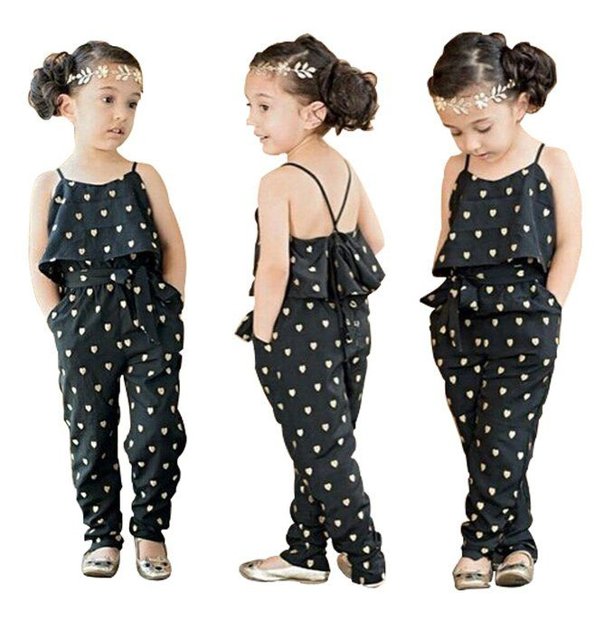 c85c572c2c81 Baby World Kids Girls Harness Heart-shaped Rompers Summer Jumpsuit Clothes ( 2T(advice 1 years)