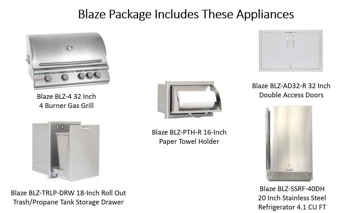 San Antonio Ready To Finish Outdoor Kitchen Kits Stainless Steel Doors Stainless Steel Refrigerator
