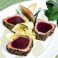 recipe: pan seared tuna with wasabi sauce [37]