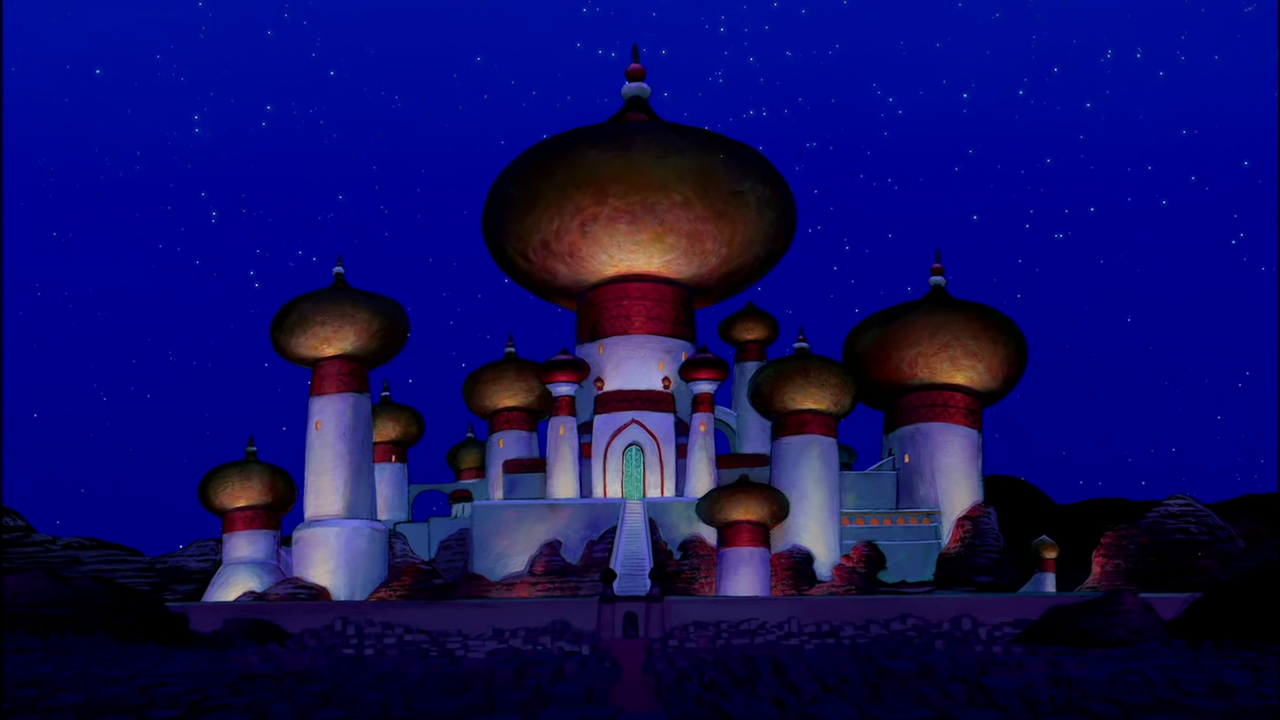 Simple Disney Aladdin Castle Painting Aladdin Screencap