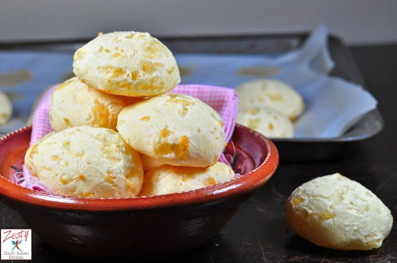 Pao De Queijo Brazilian Cheese Bread Very Addictive Made With Tapioca Flour And Cheese I Used Asiago Cheese And Parme Bread Recipes Sweet Food Cheese Bread