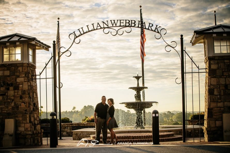 Barbara and Darryl | Engagement Session in Historic Downtown Norcross