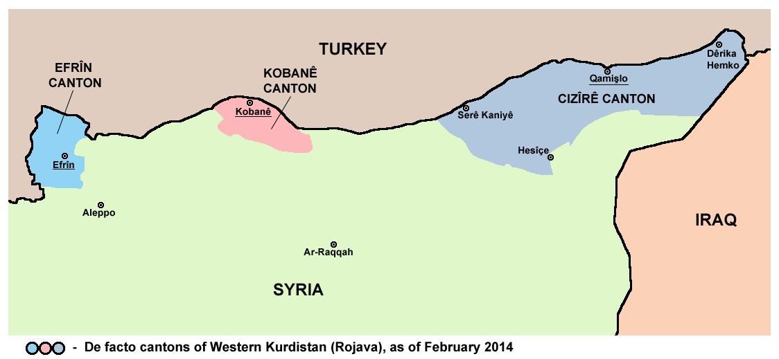 Kurdistan Siriano – Mappa