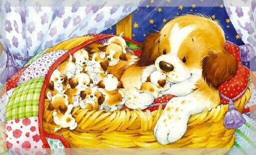 Брату днем, открытки с новорожденными щенятами