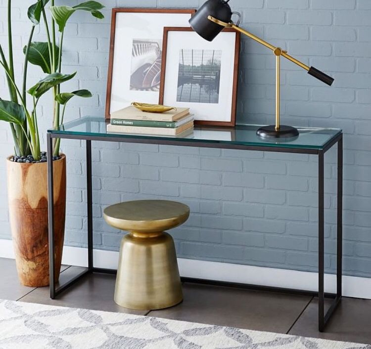 Entryway Clutter Is So 2014 Westelm Modern Console