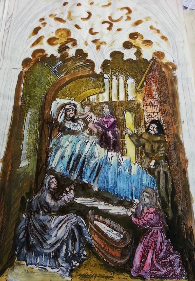 "Saatchi Art Artist Wilfried Senoner; Drawing, ""Religious art"" #art"