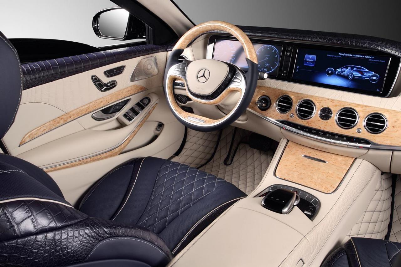 Mercedes Benz S Guard W222 Gets Crocodile Leather From Topcar Benz S Mercedes Benz Mercedes