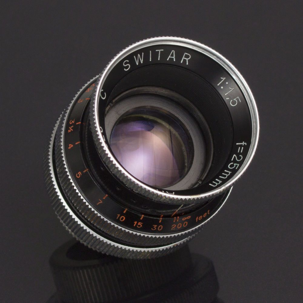 Kern Paillard Switar Ar 25mm F1 5 Fast Cine Lens C Mount Bolex 16mm M4 3 Bmcc Vg Vintage Lenses Cameras For Sale Lens