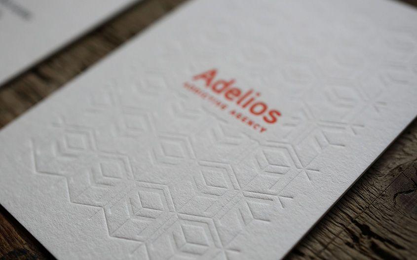 Carte De Visite Letterpress Embossage Business Card Octopus Studio
