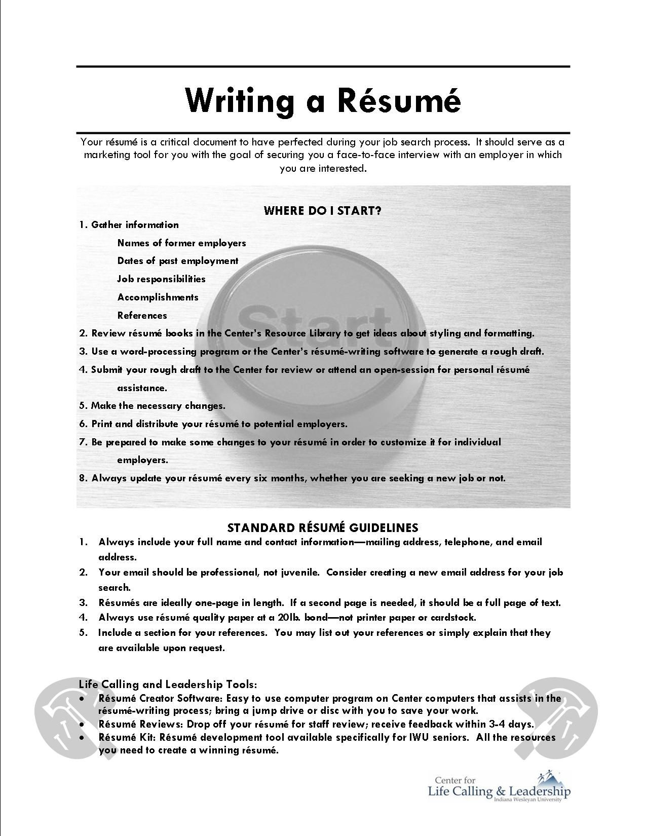 Resume Writing Examples Writing A Resume Online Resourceswriting A Resume Cover Letter