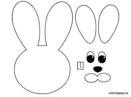 Image Result For Bunny Face Template Bunny Coloring Pages