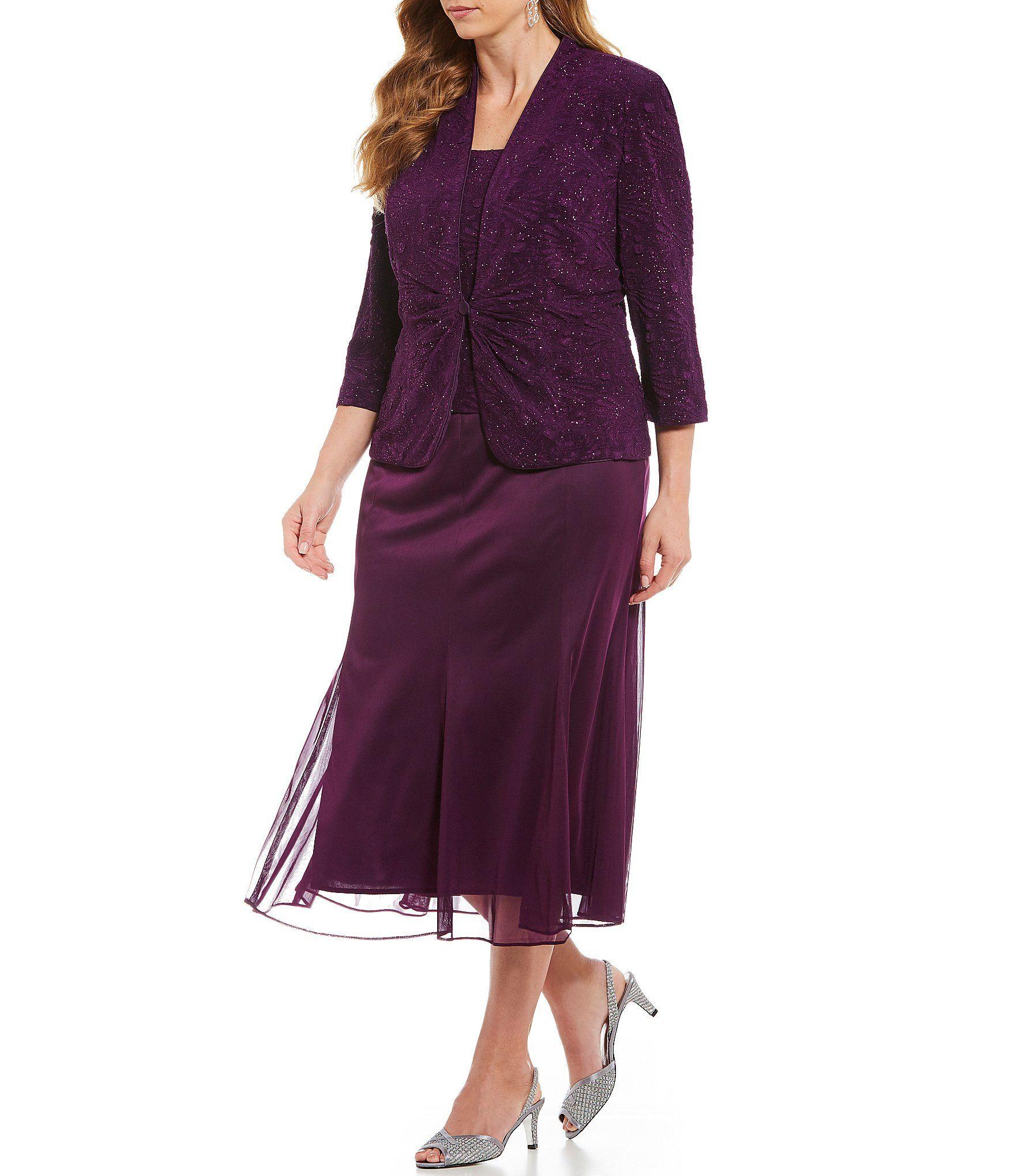 Alex Evenings Plus Size A-Line Jacket Dress in 2019 | Mother ...