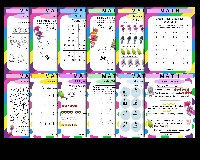 Trolls 1st Grade Math Amp Language Worksheets