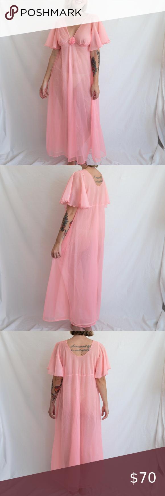 Vintage 60s Penigior Set // Gilead Nightgown & Penigior