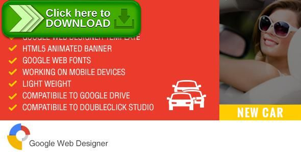 Free nulled New Car - Ad Banner Template GWD download - car ad template
