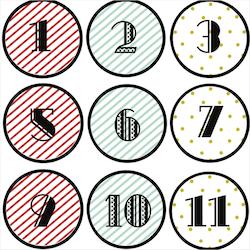 calendrier de l 39 avent tiquettes imprimer sur des enveloppes en craft ou sur des bo tes. Black Bedroom Furniture Sets. Home Design Ideas
