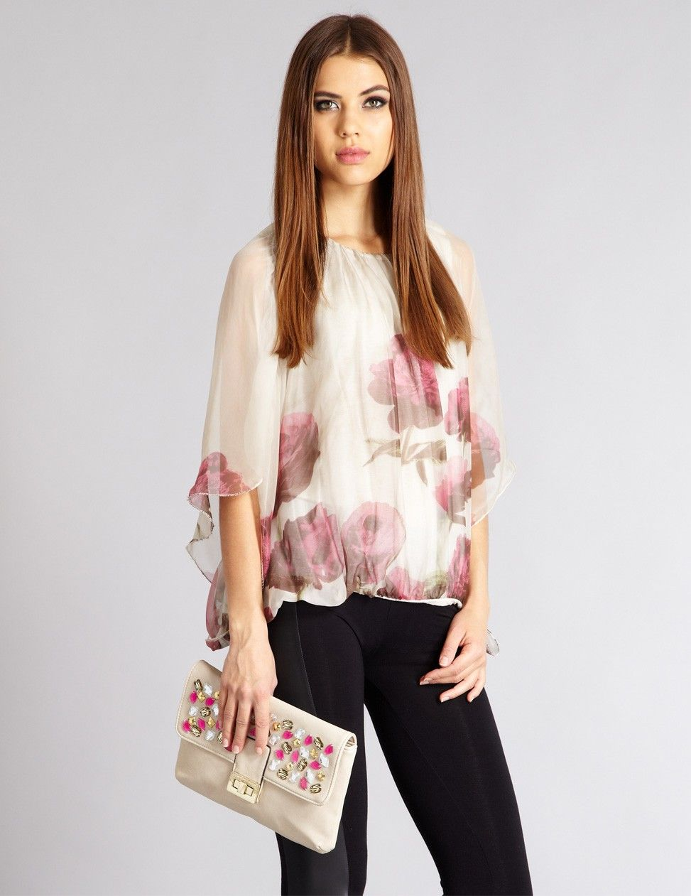 56aebb16952 Floral Print Batwing Blouse Top | £30 | Aftershock | Florals For ...