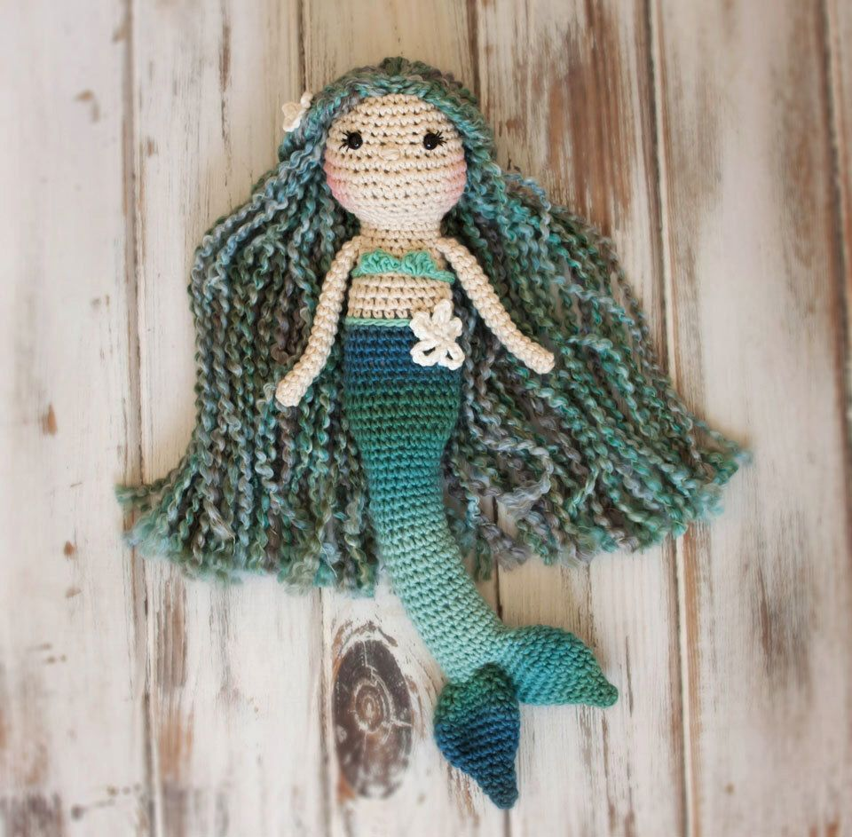 Amigurumi Mermaid, Mermaid doll, Crocheted Mermaid Doll by ...