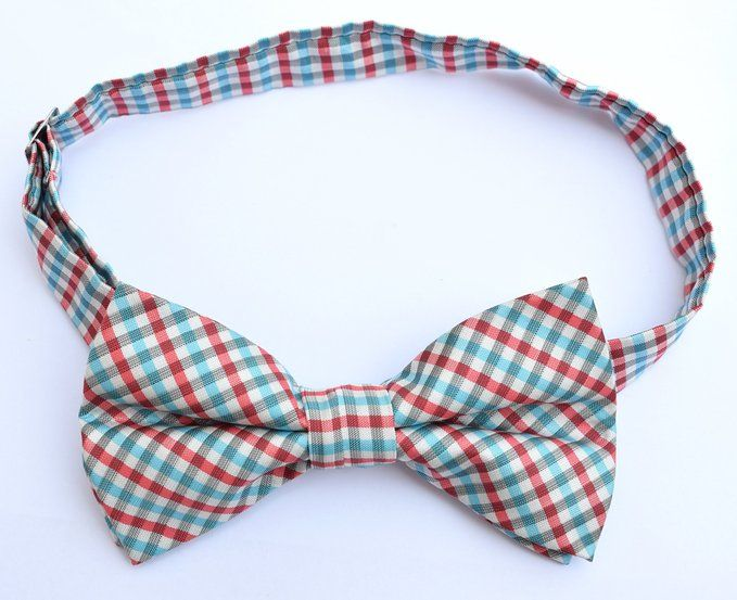 OCIA® Mens Checkered Microfiber Pre-tied Bow Tie - ND026 at Amazon Men's Clothing store:
