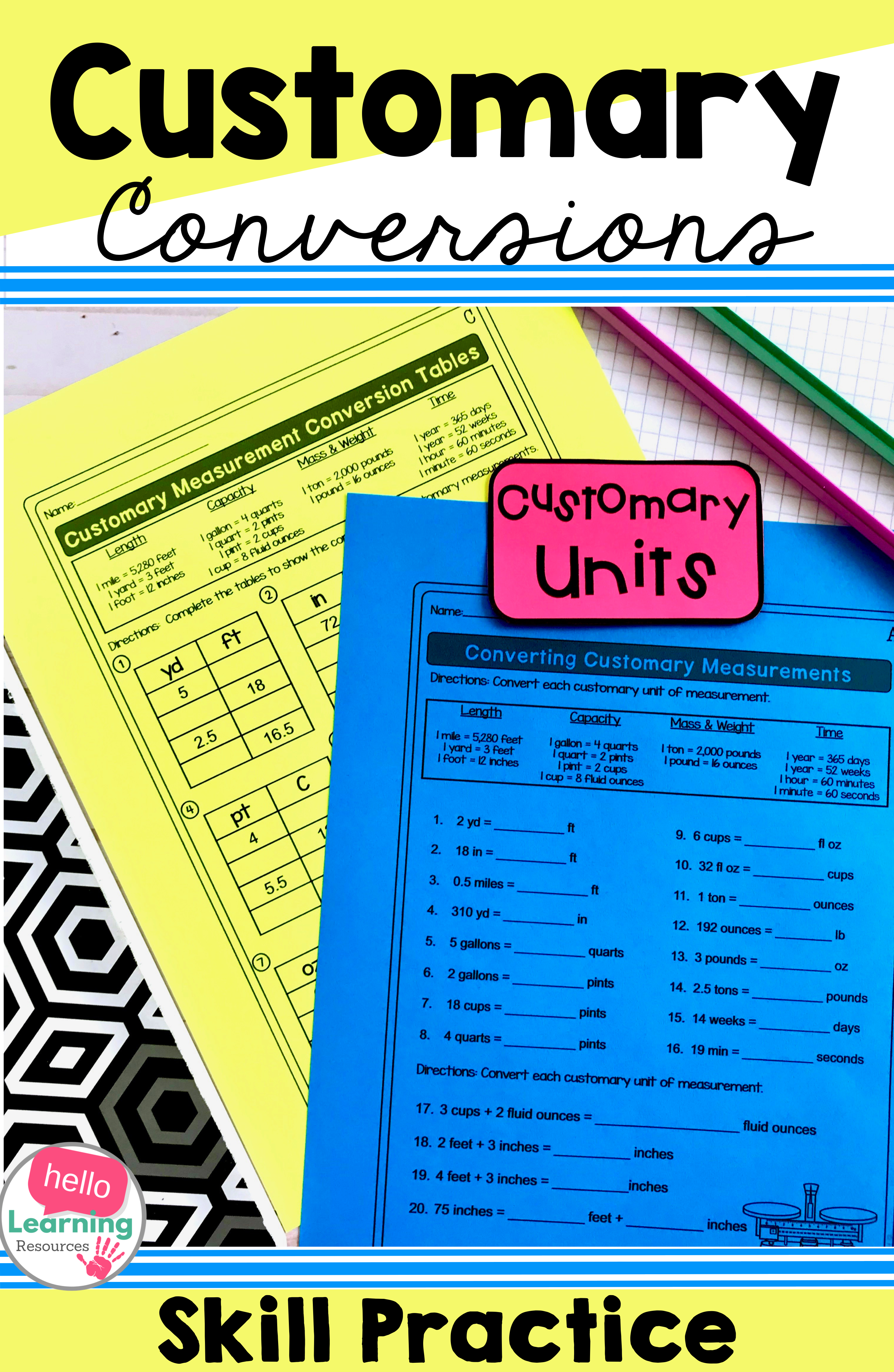 Measurement Conversions Worksheets