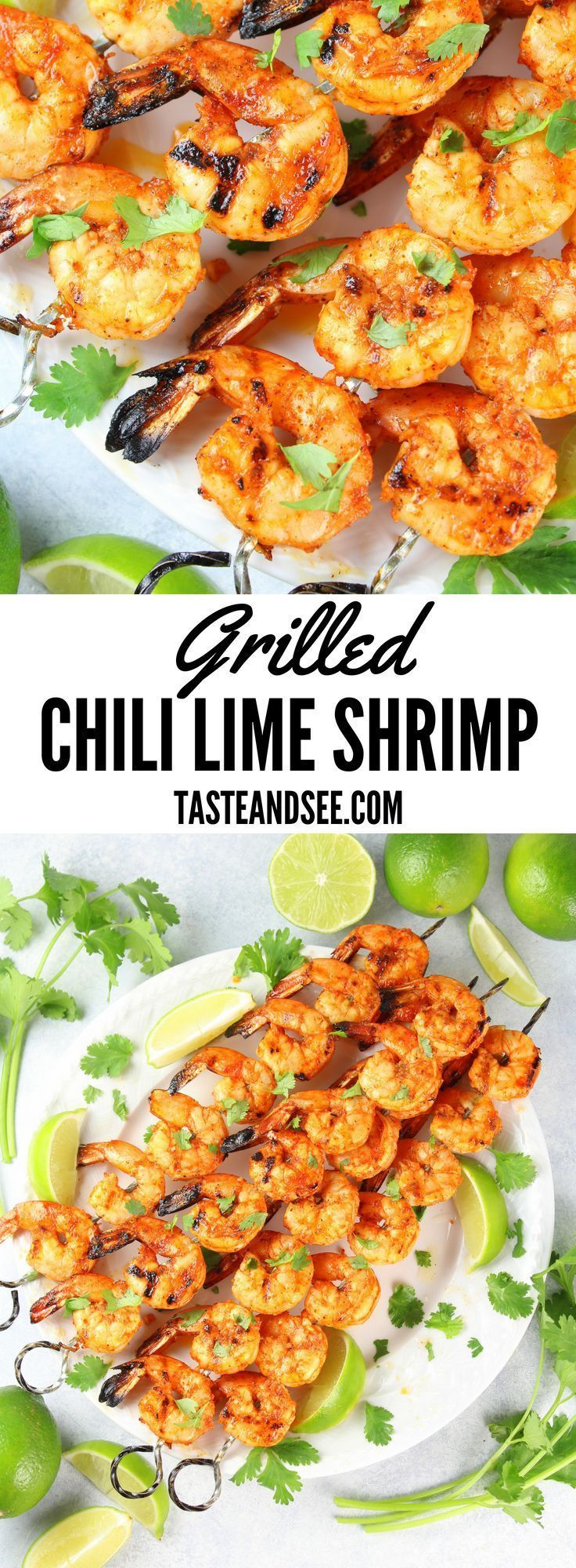 Grilled Chili Lime Shrimp | Taste And See