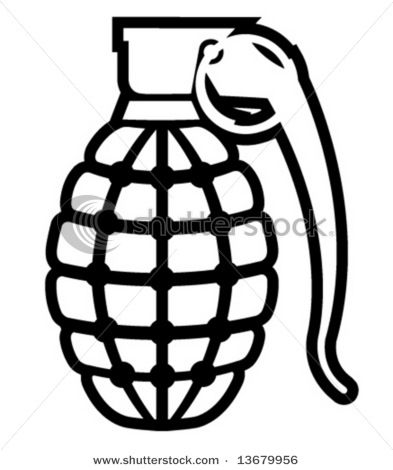 how to draw a grenade grenade outline stock vector 13679956 rh pinterest co uk Bomb Vector Grenade Clip Art
