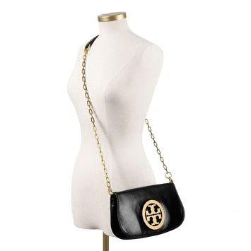 6f66d5b85f2 Tory Burch Reva Logo Clutch Black Cross Body Bag on Sale