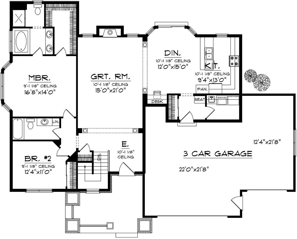 House Plan 102000185 Craftsman Plan 1,683 Square Feet