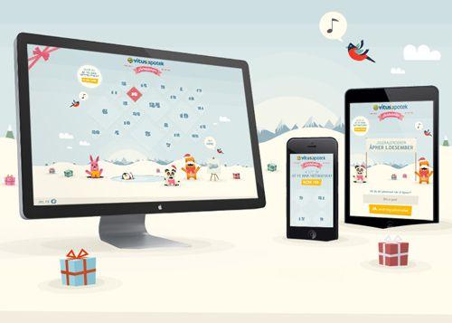 Vitusapotek Christmas Calendar #websitedesign #responsivedesign #responsivewebdesign