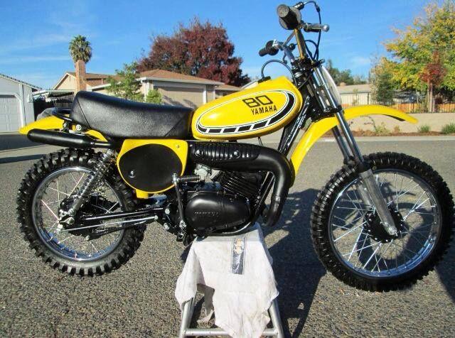 1976 Yamaha Yz80 Vintage Motocross Motorcycle Bike Yamaha Motorcycles