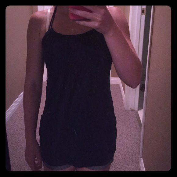 Abercombie and Fitch tank top Abercombie and Fitch XL girls tank top or a small in women's. Dark blue and very long and flowy. Abercrombie & Fitch Tops Tank Tops