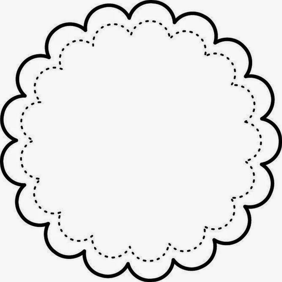 Etiquetas toppers o marcos con forma de flor para - Marcos de fotos de pared ...