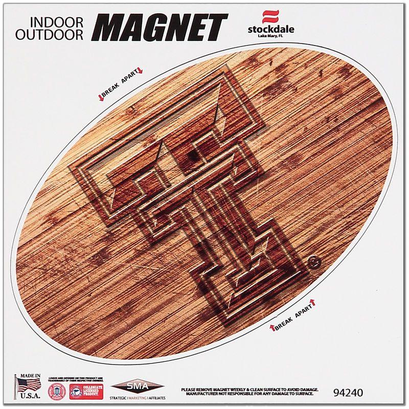 Texas Tech Red Raiders 6 x 6 Wood Design Magnet