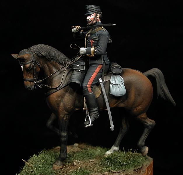 Oficial de artillería española.
