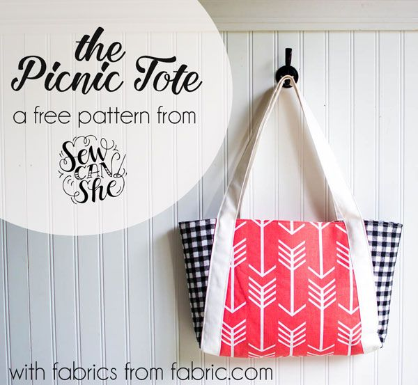 The Picnic Tote... free sewing pattern! | Patrones de costura ...