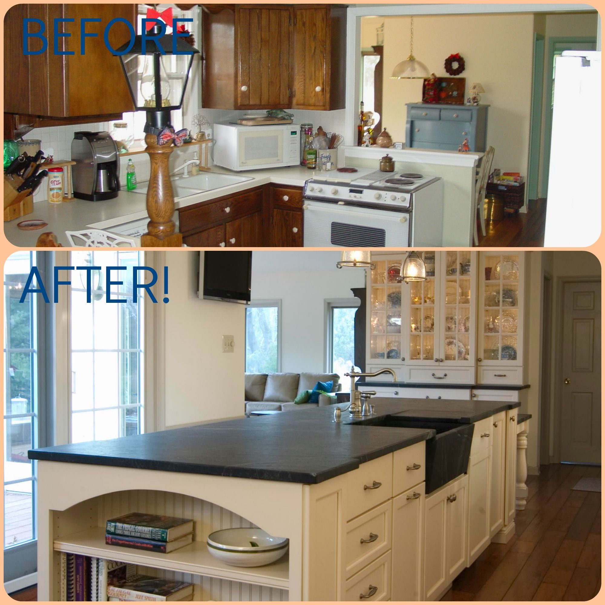 This Beautiful Kitchen Remodel By Meridian Construction Shows A Drastic Change From A Closed In