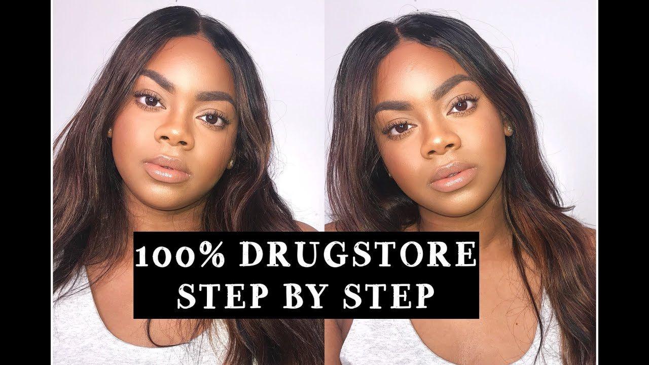 BASIC BEGINNER MAKEUP TUTORIAL 100 Drugstore , Talk