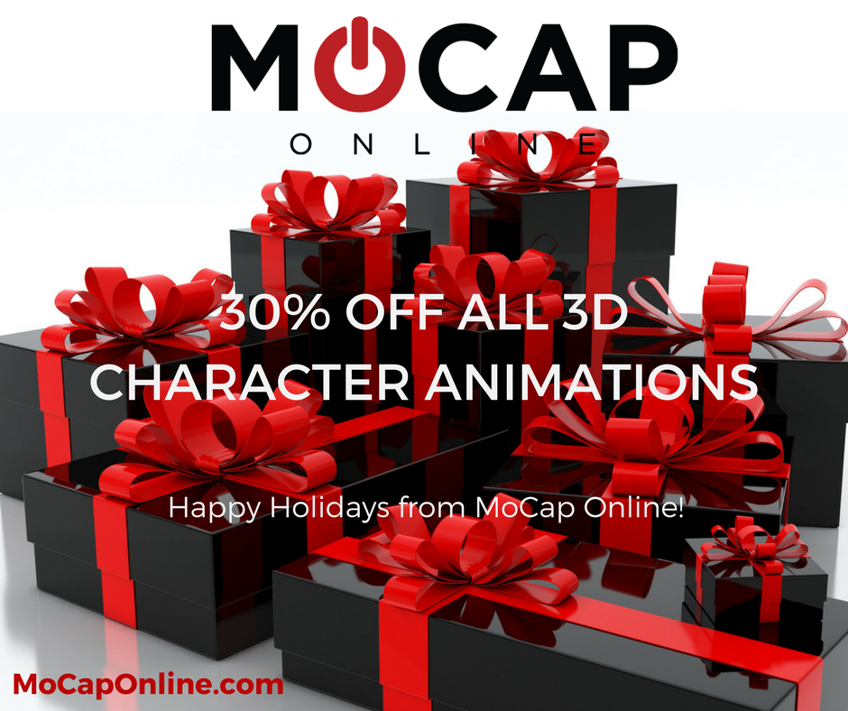 30% Off All 3D Character Animations Through January 1st! MoCapOnline